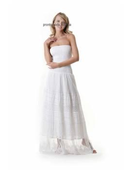 Длинный белый сарафан Iconique 19003