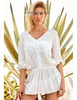 Біла туніка-сорочка  Amarea 19113