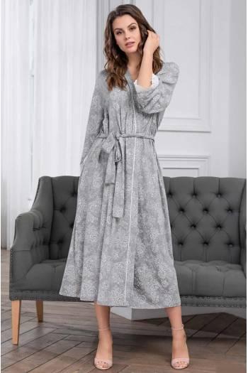 Довгий халат Mia-Mia Melange 6739