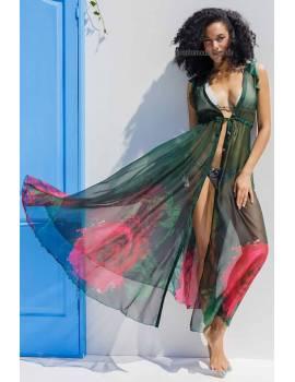 Довга пляжна сукня з шифону Mare Ora 9052