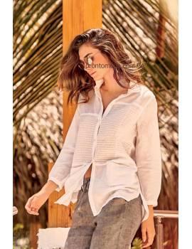 Біла жіноча сорочка на ґудзиках Iconique IC 19011