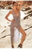 Пляжный длинный сарафан из шифона Amarea 01019