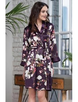 Короткий жіночий халат Mia-Amore Magnolia 3523