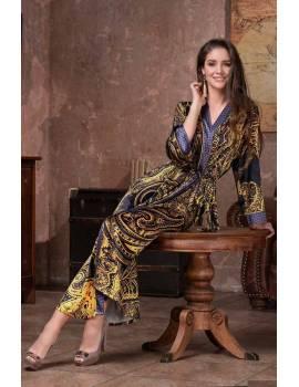 Длинный женский халат Armani Gold 3499