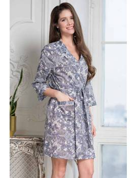 Короткий халат из хлопка Mia-Amore Tessa 6833