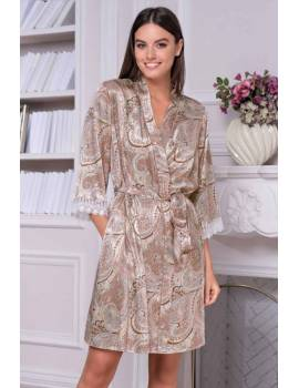 Короткий женский халат Mia-Amore Clementina 3453