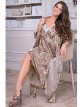 Довгий жіночий халат Mia-Amore Clementina 3459