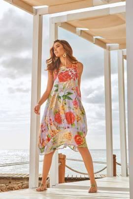 Пляжное платье-баллон из хлопка Iconique IC 20-072