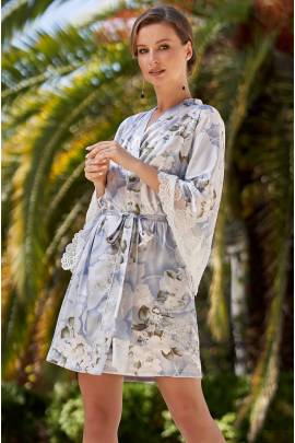 Короткий женский халат Mia-Amore Novella 3603