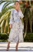 Длинный шелковый халат женский Mia-Amore Novella 3609