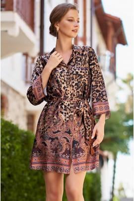 Короткая рубашка-халат Mia-Amore Cleopatra 3567
