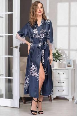 Длинный халат из шелка Mia-Amore Alexandria 3579