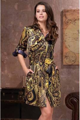 Довга сорочка на ґудзиках Mia-Amore Armani Gold 3497