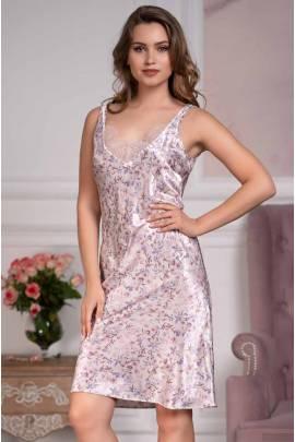 Сорочка шелковая средней длины Mia-Amore Vladlena 3595