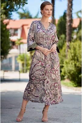 Длинный шелковый халат Mia-Amore ESTEL 3619