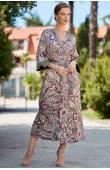 Довгий халат сорочка Mia-Amore ESTEL 3619