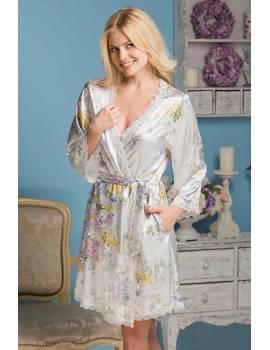 Шелковый халат Lilianna 5993