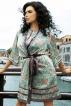 Шелковый халат Melissa 15037