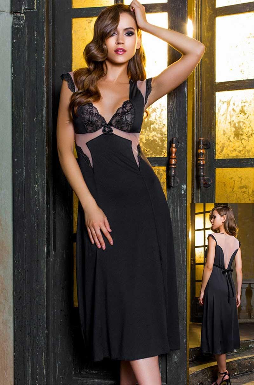 Довга сорочка Elegance de lux 12038