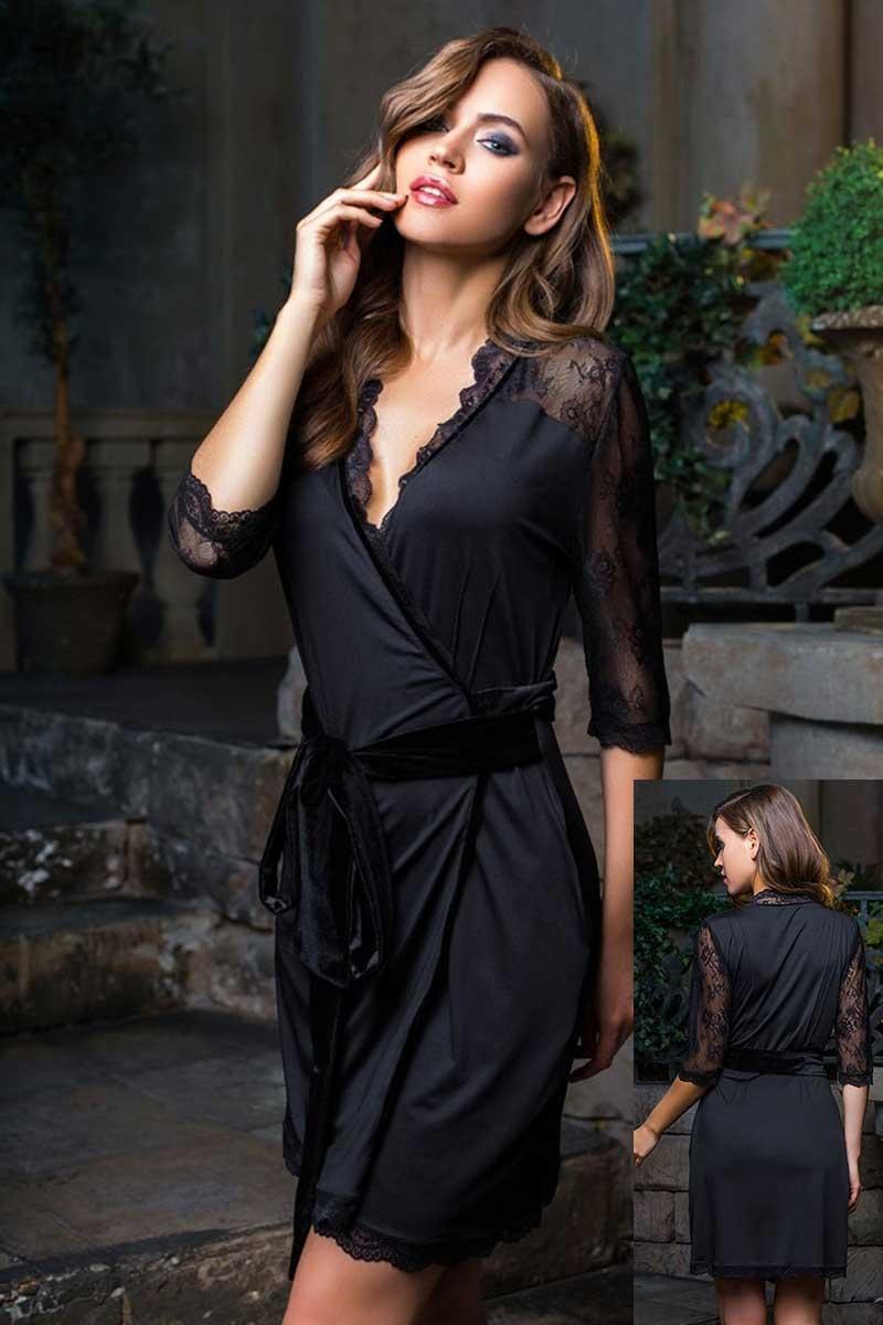Короткий халат Elegance de Lux 12033