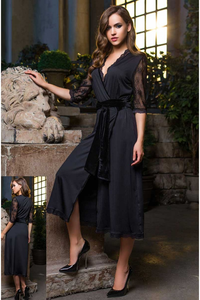 Длинный халат Elegance de Lux 12039