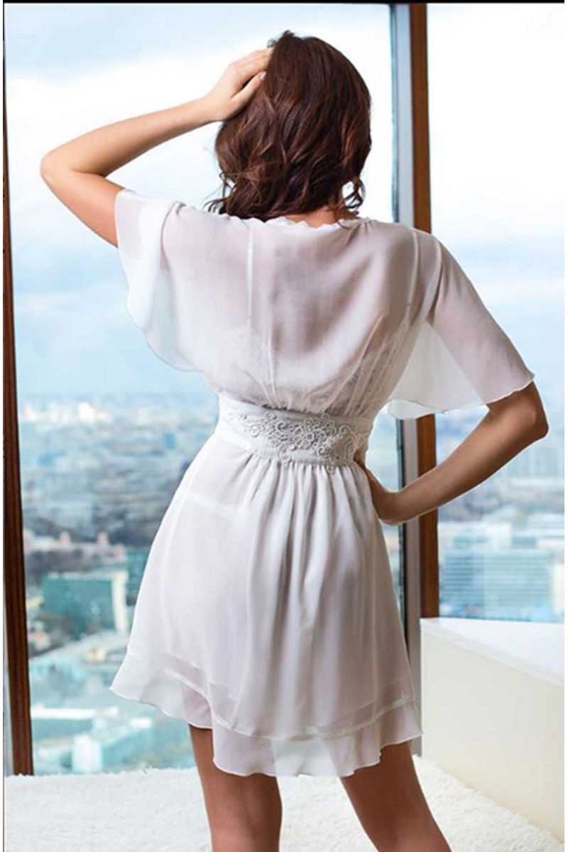 Весільна нижня білизна Mia-Mia - сорочка і халат з шовку і шифону de92caccaf421
