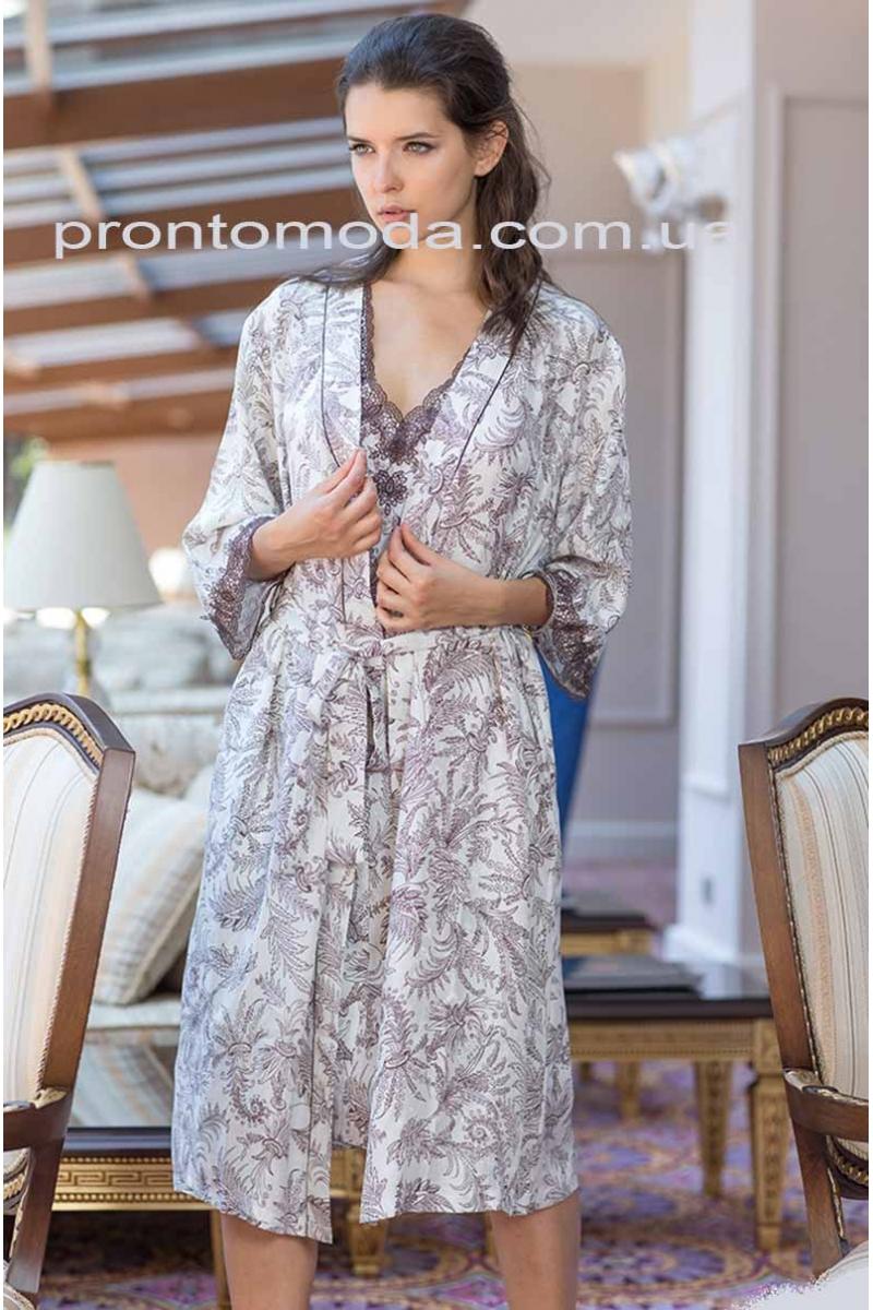 Довгий халат Evita 3089