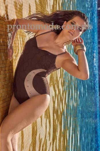 Злитий купальник на кісточках  Amarea 18105
