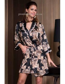 Короткий халат Mia-Amore Golden Flower 3303
