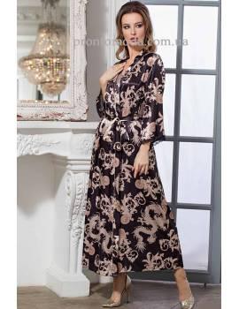 Длинный женский халат Versachi Gold 9938