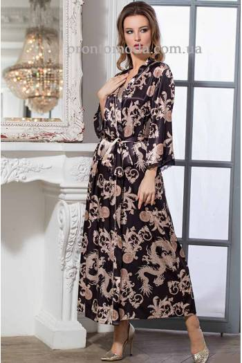 Довгий халат для жiнок Versachi Gold 9938