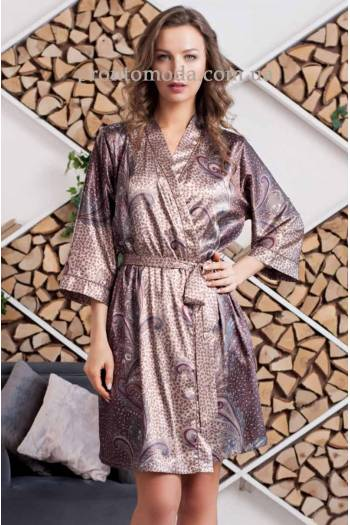 Короткий халат Mia-Amore Mokka 3323