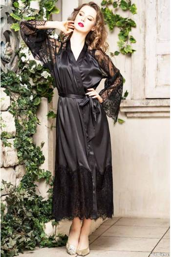 Длинный женский халат Mia-Amore Afrodita 2169