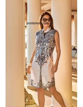 Плаття-халат з бавовни David 19029 DB