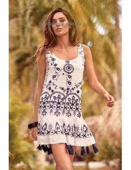 Пляжное платье с вышивкой Iconique 19077 IC