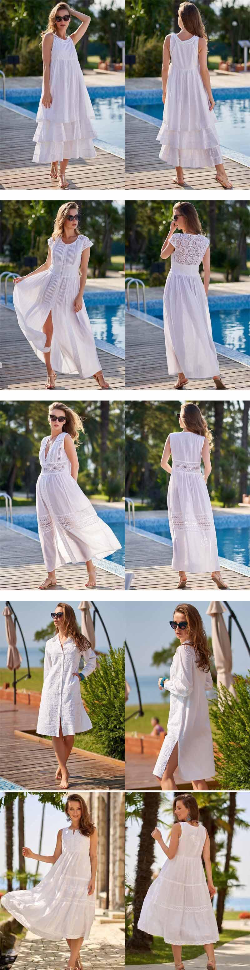 Пляжная мода 2020 в белом цвете
