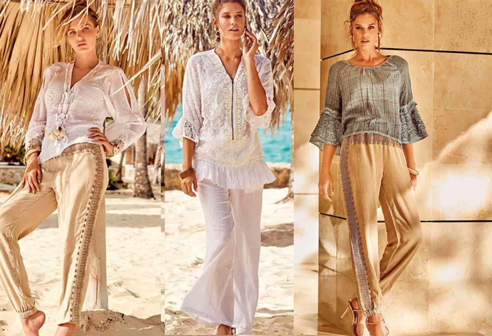 Модні пляжні брюки, комбінезони літо 2020