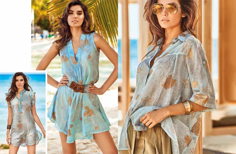 Модні туніки з поясом, ременем - мода 2020
