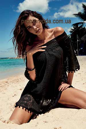 Черную пляжную тунику купить