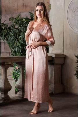 Довгий жіночий халат з шовку Mia-Mia Agata 15129