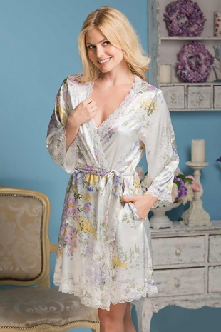 Шовковий халат Lilianna 5993