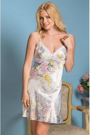 Короткая сорочка из шелка Lilianna 5991