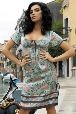 Шелковая сорочка-туника Melissa 15034