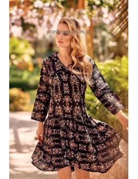 Літнє плаття з расклешенной спідницею  Iconique IC 19123